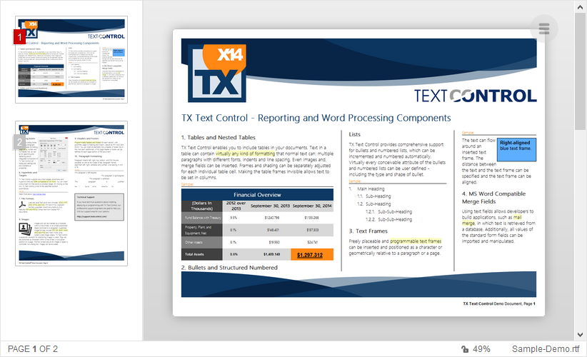 Reporting Cloud Pricing | Text Control ReportingCloud